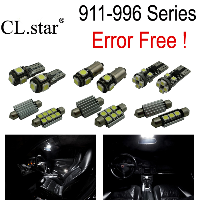 10pc XCanbus Error free For Porsche 911 996 series LED Lamp Interior Light Kit Package (1998-2004) 2pcs 12v 31mm 36mm 39mm 41mm canbus led auto festoon light error free interior doom lamp car styling for volvo bmw audi benz