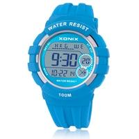XONIX Sports Watches Waterproof 100m Multifunction World Time Led Light Swim Climb Outdoor Watch Children Wristwatch