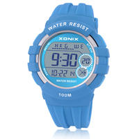 Sports Watches Waterproof 100m Multifunction World Time Led Light Swim Climb Outdoor Watch Children Wristwatch Boys&Girls