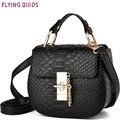 PÁJAROS de VUELO! 2016 mujer bolsos de cuero de las mujeres bolsos de marcas famosas bolsas de mensajero de las mujeres bolsos de diseño de alta calidad LS8414fb