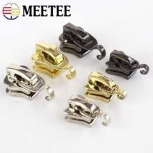 Meetee 20pcs 3# 5# Metal Nylon Resin Sliders Luggage Clothing DIY Hardware Zipper Puller Handmade Crafts Accessories AP568