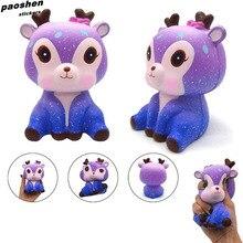 Kawaii PU Squishy Cute Cartoon Starry Sky Deer Animal Soft Slow Toy Children s Squishi Toys