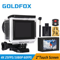 Goldfox 4K Touch Screen Action Camera Go Waterproof Pro Wifi Sport Dv Video Camera Full HD