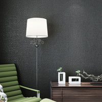Modern simple imitation linen pure color plain non-woven wallpaper wallpaper living room study bedroom tea shop shop club paper