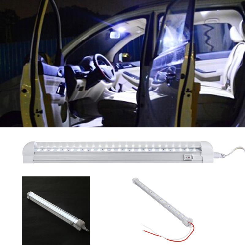 Vehemo 24V 5.04W Trucks Vehicle 18 LED Modified Cab Work Working White Lighting Lights Lamp Bulb Car Interior Light Bar 6000K vehemo 24v trucks vehicle 48 led bulbs cab working white lighting light 6000k bright