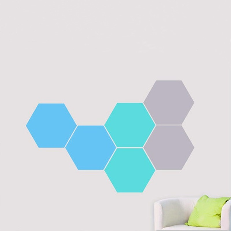 12 Honeycomb Wall Decal Geometric Hexagons Vinyl Stickers Home Decor Three Color Combinations Each Size 24x28cm D625 In From