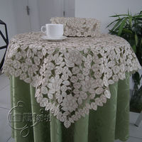 Rustic cloth embroidery dining table cloth tv refrigerator washing machine cutout cover towel self shade rose