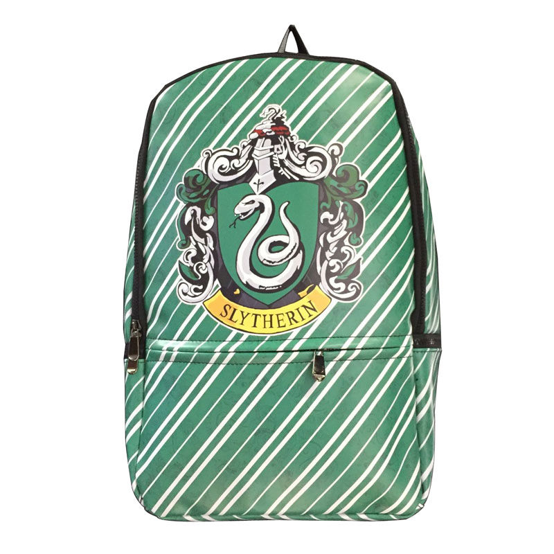 Harry Potter New Backpacks Gift Students Boy Girl School Bag with Computer Interlayer Full PU Leather Anime Backpack mochila