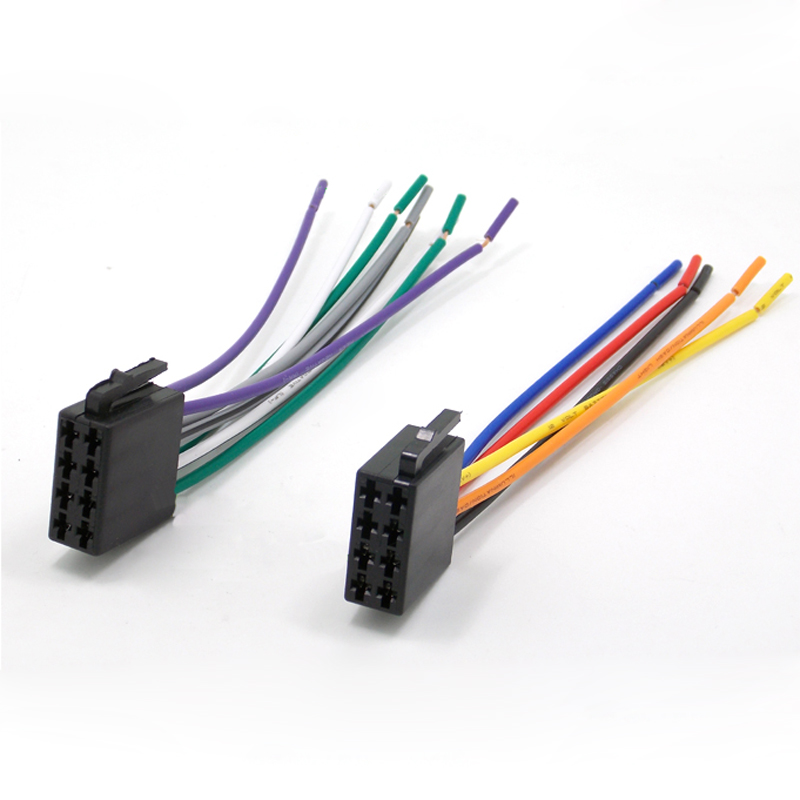 Universal Radio ISO Wire Harness Adapter Cable for Car Audio Stereo System universal radio wiring harness diagram wiring diagrams for diy  at virtualis.co