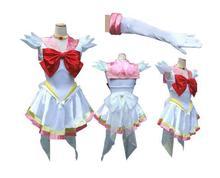 Новый Аниме Довольно Солдат Сейлор Мун Сейлор chibimoon японского аниме косплей костюм женский Halloween Party Любой Размер