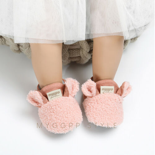 Baby Girl Bowknot Shoes Soft Sole Crib Prewalker Newborn Shoes Fashion Cute Ears Solid Color Polyester Warm Shoes