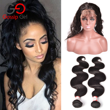 360 Lace Frontal With Bundle Body Wave With Frontal Malaysian Virgin Hair With Closure Body Wave Human Hair With Closure