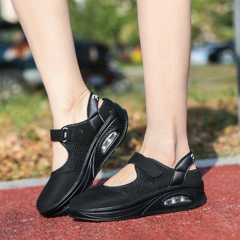 De Été Air Mocassins Printemps Chaussures Marche Appartements Casual rouge N704 blanc Mesh Sport Automne Sneaker Noir Femmes Mode Yq7zzP