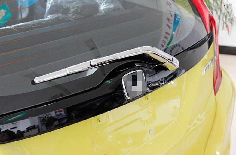 Chrome Rear Wiper Cover Trim For Honda Jazz Fit Hatchback 2014 2015 2016 2017
