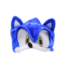 100 pcs/lot Wholesale Peluche Toys Sonic Adjustable Hat Cartoon Soft Plush Toy Hot Selling Christmas Gift For Children