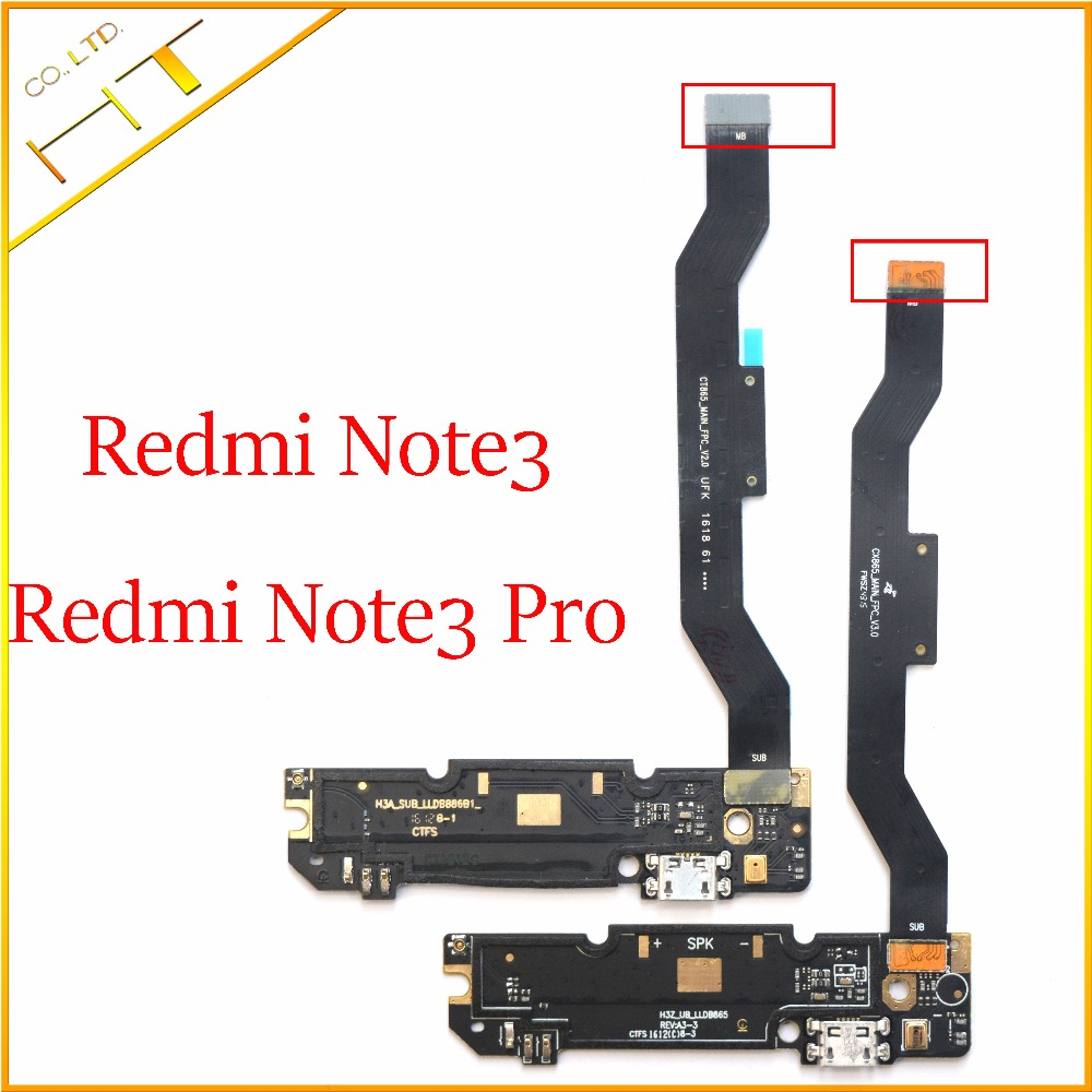 Micro USB Charging Dock Charging PCB Board Flex Mainboard Cable Connector Replacement For Xiaomi Redmi Note 3 Note3 Pro