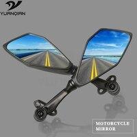 Black Motorcycle Mirror Side Mirror Scooter Mirrors For moto Yamaha R1 3 6 R ybr MT07 MT09 TMAX 530 500 XMAX 2015 2016 2017