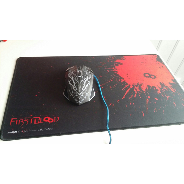 Professional Ultra Large Design Gaming Mouse Pad Fashion Edge Stitch Design A Blood E-sports Mouse Pad Used for Office and Home