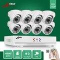 ANRAN CCTV P2P 1800TVL híbrido 8CH 720 P AHD DVR 720 P impermeable 48 IR Domo Al Aire Libre Día Noche Seguridad Para el Hogar sistema