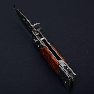 Image 5 - سكاكين صيد تكتيكية عالية الجودة بمساعدة عسكرية مفتوحة مزودة بجيب سكاكين لأغراض القتال الخارجي شفرة قابلة للطي AK47 سكاكين للدفاع عن النفس