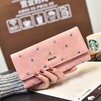 2016 Beautiful Women Wallet Long PU Leather Women Purse Luxury Handbags Women Bags Designer Ladies Wallet