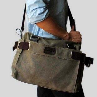 Large Men Messenger Bags For Men Canvas Bag Laptop Bag Shoulder ...