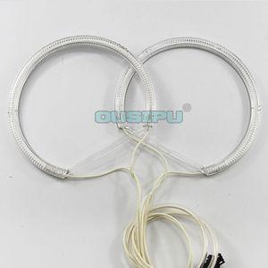 Image 5 - 좋은 품질 2*131mm + 2*146mm bmw e46 비 프로젝터 헤드 라이트 halo rings ccfl 천사 눈 drl 키트 흰색 4 링