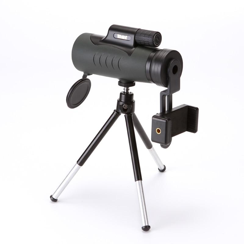 HD télescope monoculaire jumelles 10X42 Zoom Mise Au Point Vert Film Binoculo Optique Chasse qualité supérieure Tourisme Champ D'action