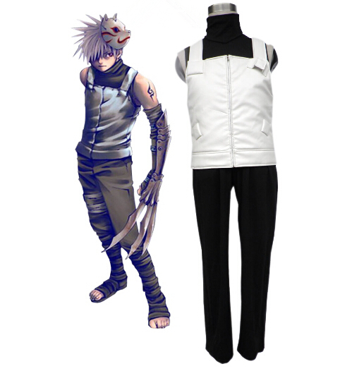 Naruto Hatake Kakashi Anbu Cosplay Costume Anime Uniform Halloween Suits