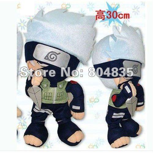 "Free Shipping Pakkun12""  plush doll toy Naruto plush Stuffed toy Anime Figurine Toy Mix order 30pcs/lot 20120229-4"