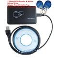 USB 125 KHZ de proximidade RFID Reader & Escritor Copiadora EM4305 Duplicador EM4100 Cartão & 1 pcs Tag Regravável Livre