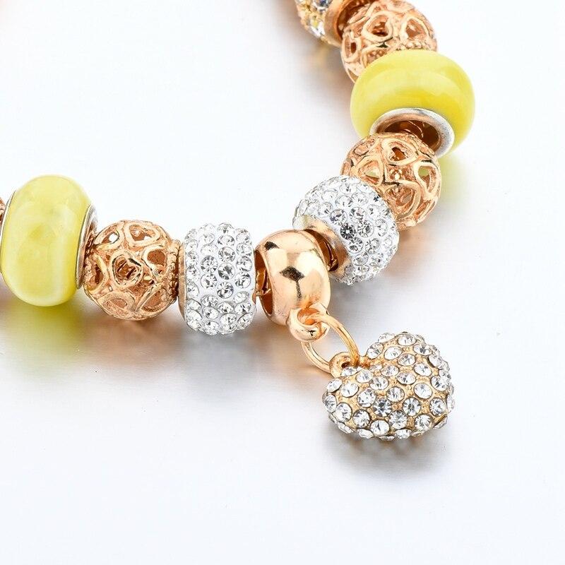 Crystal Heart հմայքը Ապարանջաններ կանանց - Նորաձև զարդեր - Լուսանկար 6