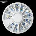 Roda Da Arte do prego 3D Dicas Plat Diamante de Volta Do Parafuso Prisioneiro de Strass AB Gemas de cristal Gem Polonês Acrílico UV Gel Decoração Manicure Ferramentas DIY