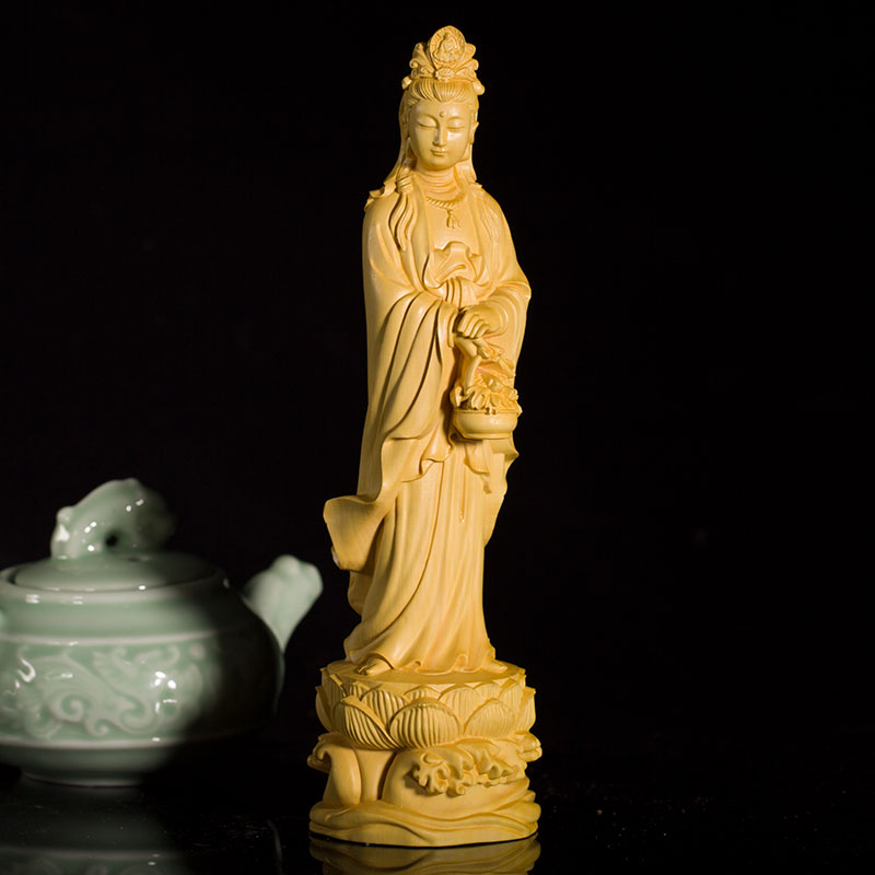 Tibetan Avalokitesvara Matsu 3 God Statue Box Bodhisattva Home //Temple Decor