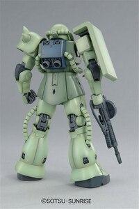 Image 3 - Bandai Gundam MG 1/100 MS 06F Zaku II Ver.2.0 Mobile Suit Assemble Model Kits Action Figures Plastic Model Toys