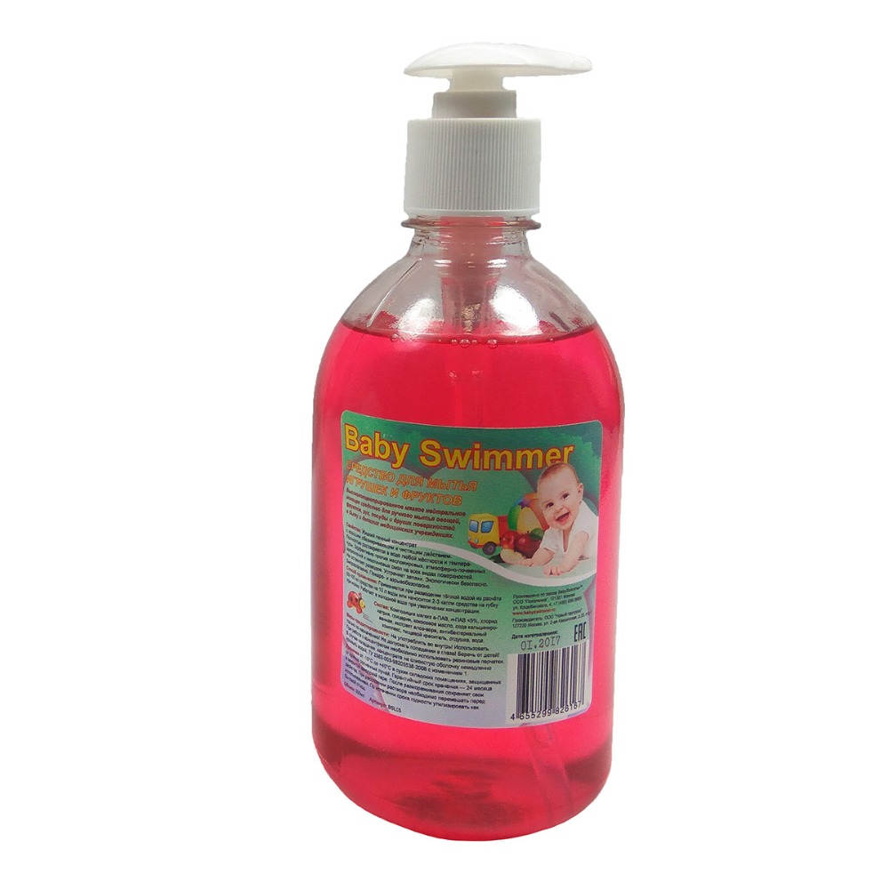 [Available from 10.11] Baby Swimmer Liquid Toy & Fruit Cleaner 500 ml.roz Baby Swimmer BSL05