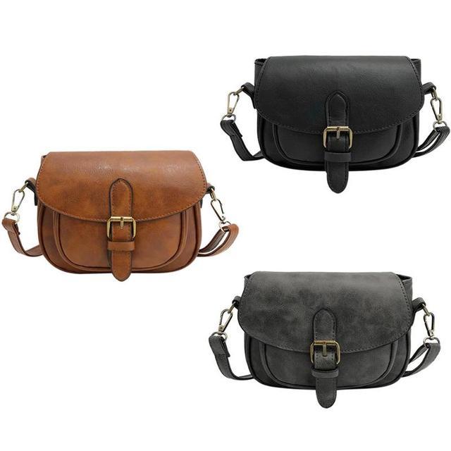 50558ad7c8f5 Vintage Women PU Leather Shoulder Bag Small Square Handbag Fashion Designer Crossbody  Bags for Women Messenger Bag Female Tot Z0