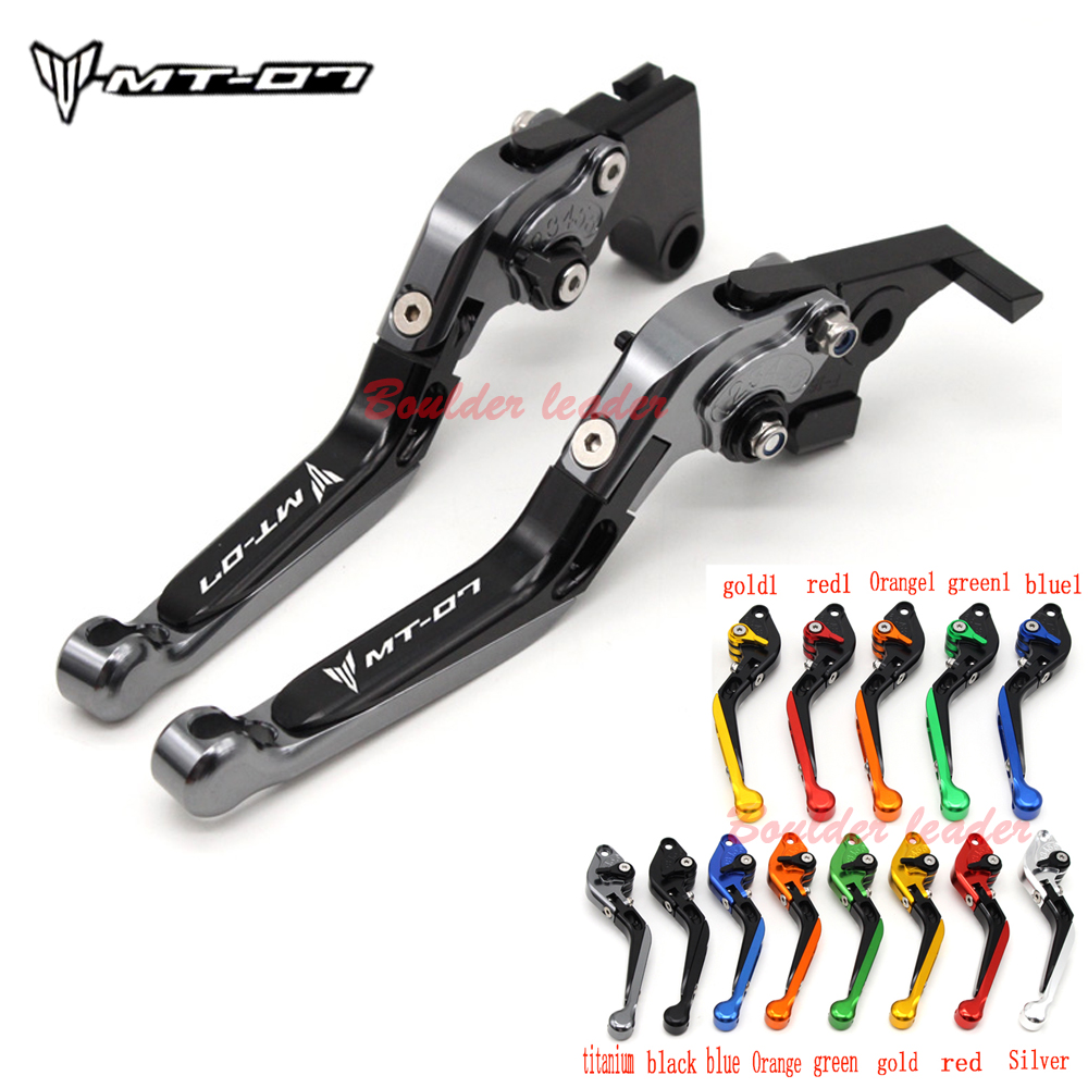 Motorcycle Accessories CNC Folding Extendable Brake Clutch Levers For YAMAHA MT07 MT 07 2014-2016 2017,FZ07 FZ 07 FZ-07 2014-2017LOGO MT-07