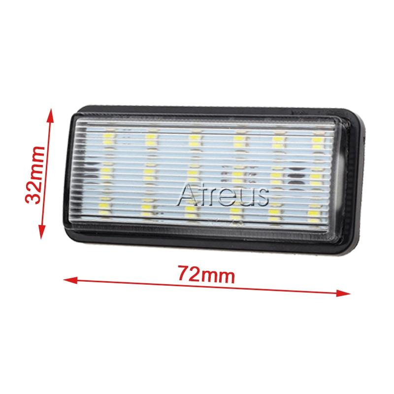 Atreus 2X Araba LED Plaka Işıklar 12 V araba-styling Için Toyota - Araba Farları - Fotoğraf 5
