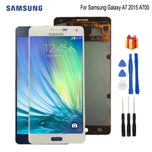 купить AMOLED For Samsung Galaxy A7 2015 A700 LCD Display A700F A700FD LCD Touch Screen Digitizer Replacement Parts Free Tools по цене 4483.91 рублей
