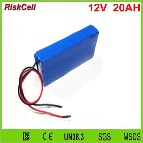20pcs/lot Hot selling rechargeable high drain Li-ion battery 12v 20Ah lithium ion battery pack for led light/strip/panel