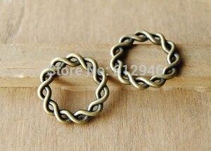30 шт 2 цвета воск Карма круг кольцо Амулеты Браслет DIY ювелирные изделия 20 мм