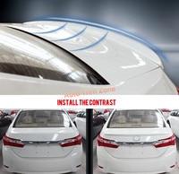 Exterior Unpainted Rear Trunk Wing Spoiler Trim 1PCS Plastic For Toyota Corolla E170 2014 2017 International version