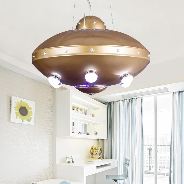 Us 238 0 Children Toy Modern Creative Room Pendant Light Boys Cartoon S Bedroom Nursery Led Ufo Lamps Za Fg506 In Lights