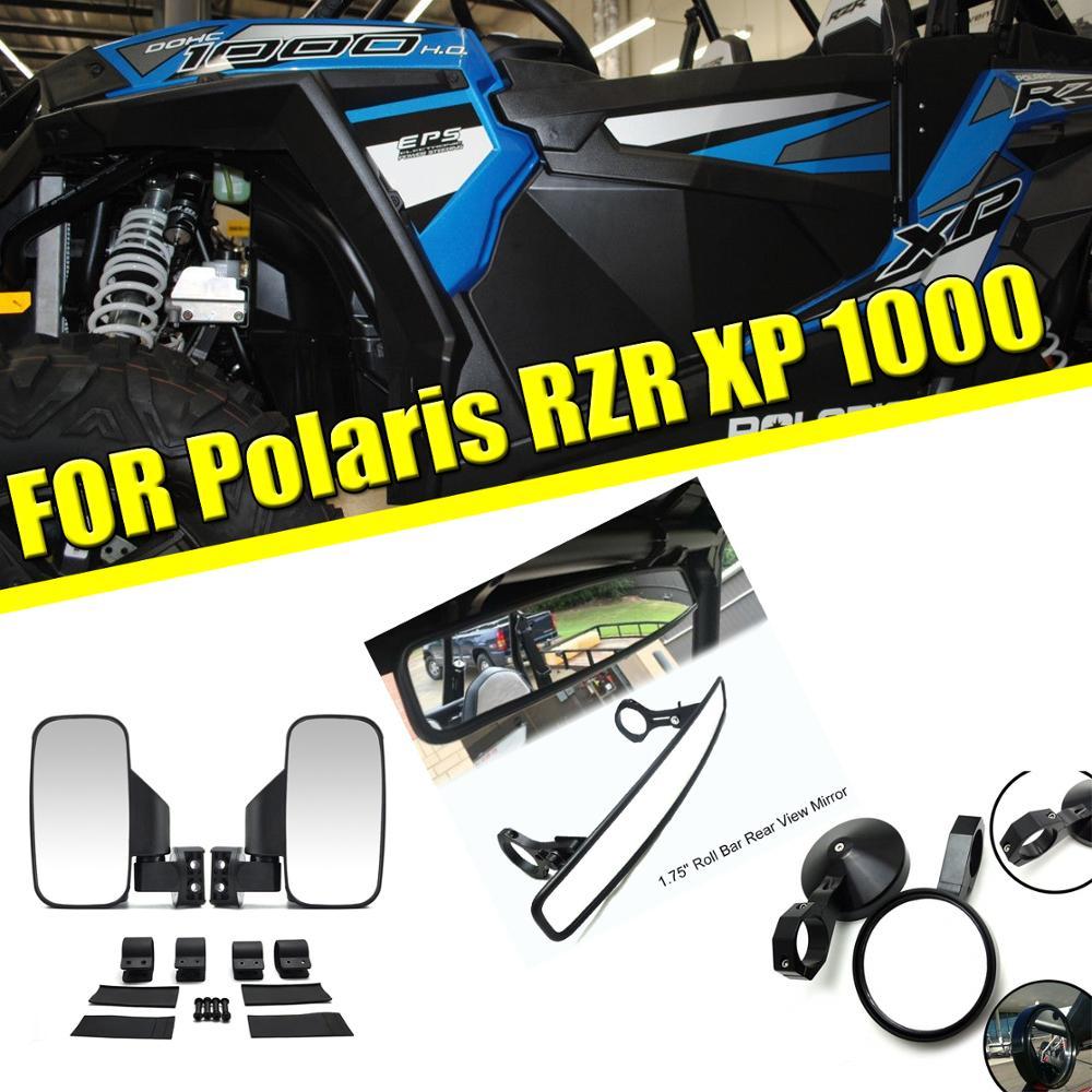 UTV universel 1.75 2 pince ronde/large côté vue arrière rétroviseurs de course pour Yamaha Viking pour Polaris RZR800 XP900 XP1000