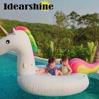 275*140*120 cm Biggest Pool Summer Swimming Pool Floating Inflatable Unicorn Pink Goose Rainbow Horse Beach Floating Row #6229