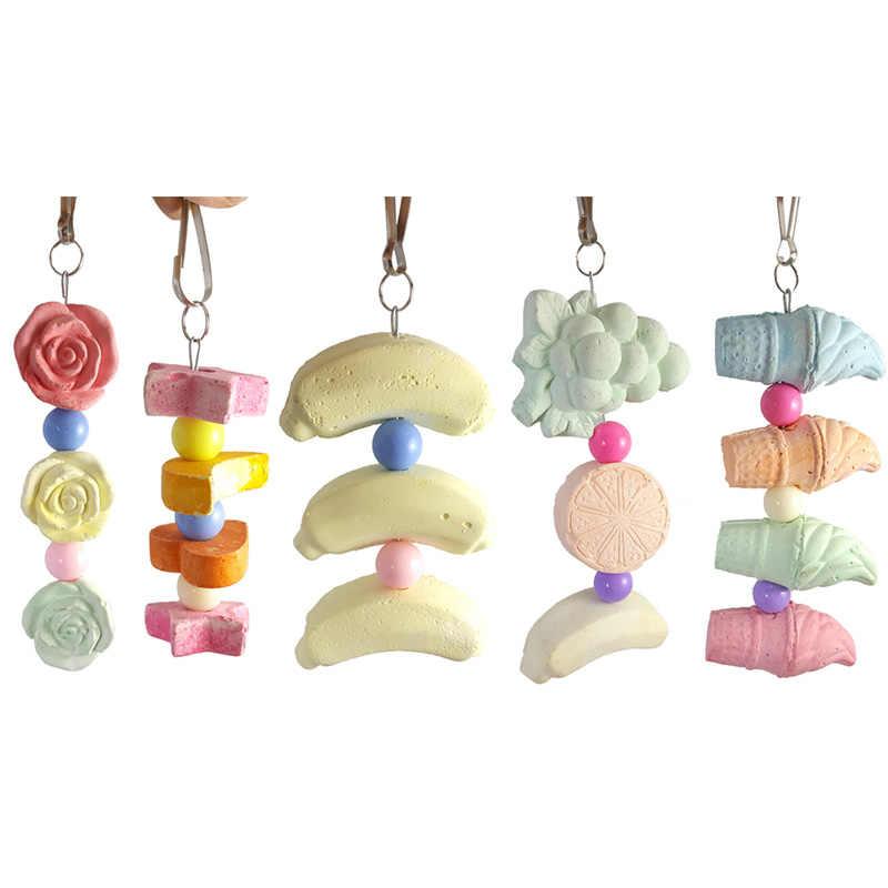 Игрушки для птиц Животное попугай хомяк жевательный минеральный камень для зубов для здоровых зубов устойчивый к укусам инструмент Vogel аксессуары