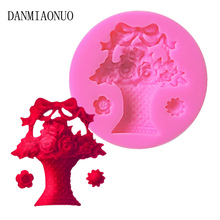 Danmiaonuo Flower Basket Shape Silicone Mold Cake Eco-friendly Baking Tools For Cakes DIY New 3d Moldes De A16389