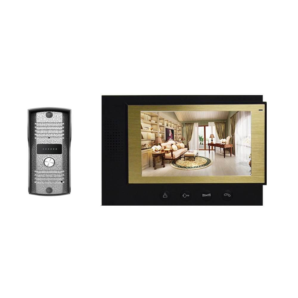 Cheap home security 7 tft color lcd video door phone for Door intercom