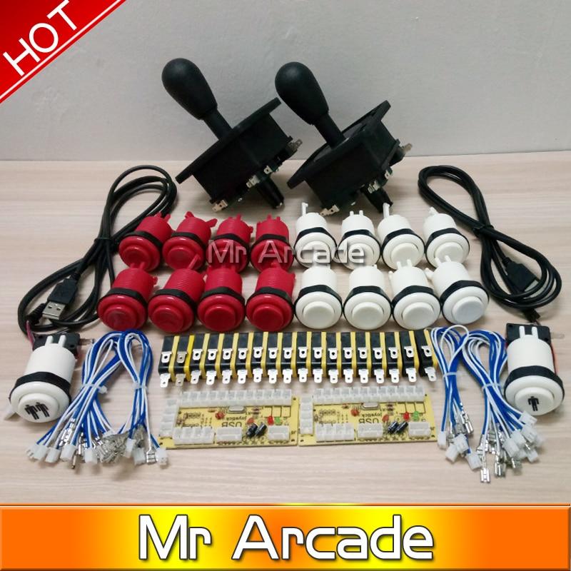 ФОТО Arcade Game DIY Parts for Mame USB Zero Delay USB Encoder 8 Way Classic Arcade Joystick Classic Arcade Push Button
